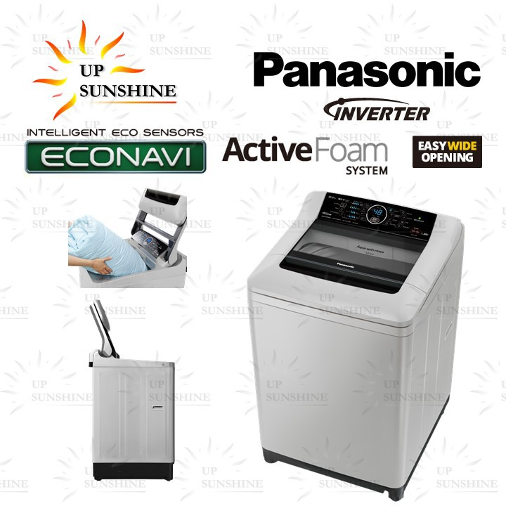 Panasonic 16kg ECONAVI Inverter Top Load Washer - ActiveFoam System NA-FS16G4