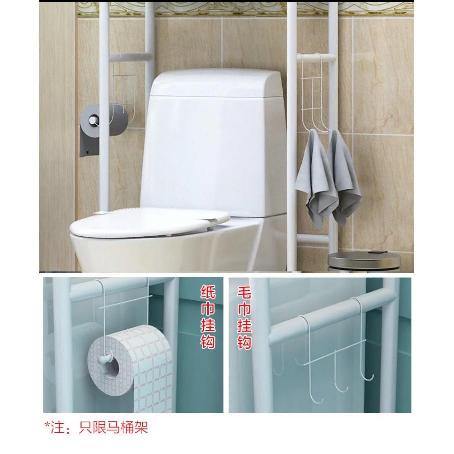 Ready Stock!!! Bathroom Toilet Storage Steel Iron Metal Rack Shelf