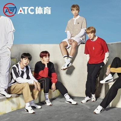 8d8bd118002e49 kickshop Puma 2018 New Arrival Turin X Bts White Shoes Korea Exclusive  Sneakers Running Shoes