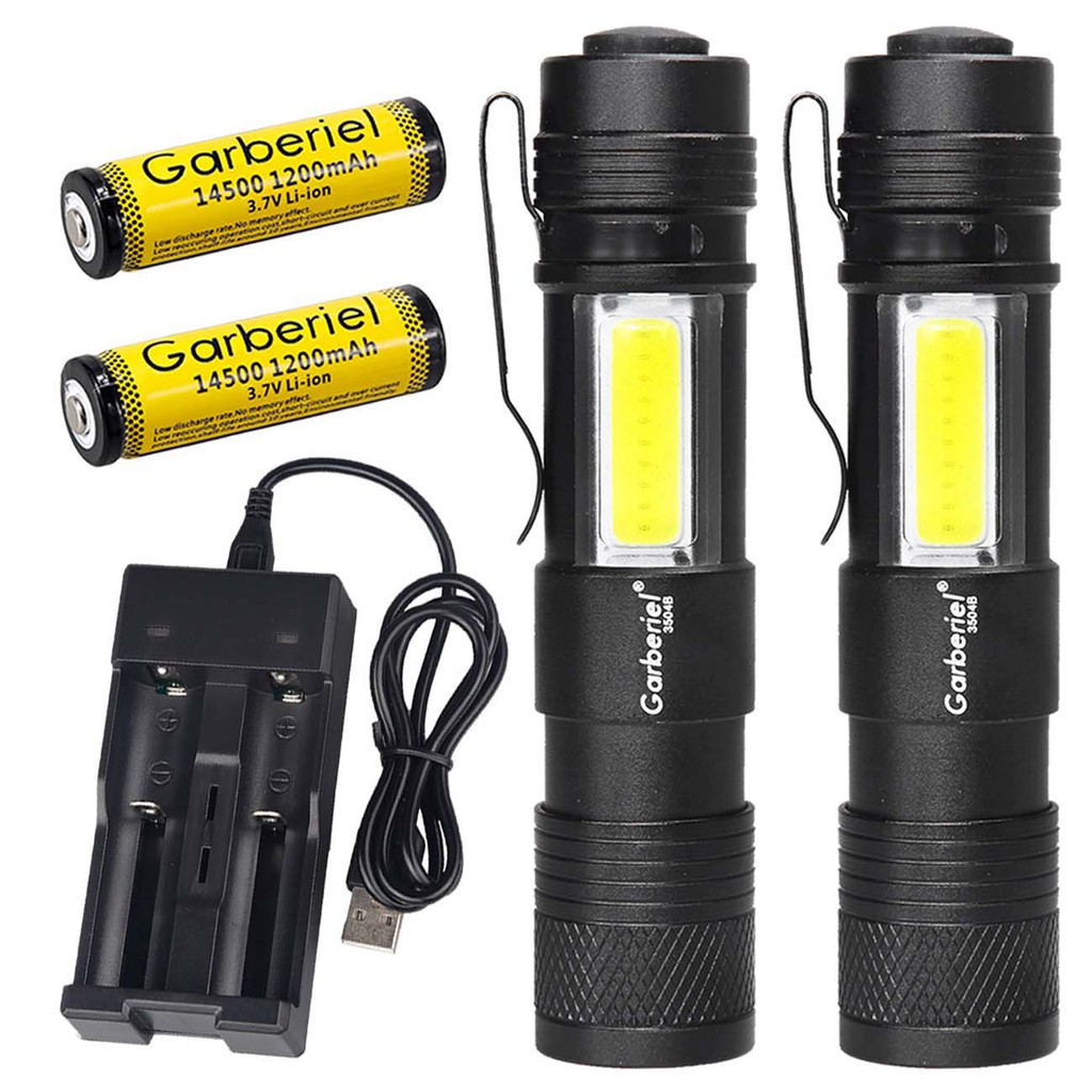 T6 Flashlight Torch LED Tactical 5000LM LED Focus Military 2*18650+Charger+Case