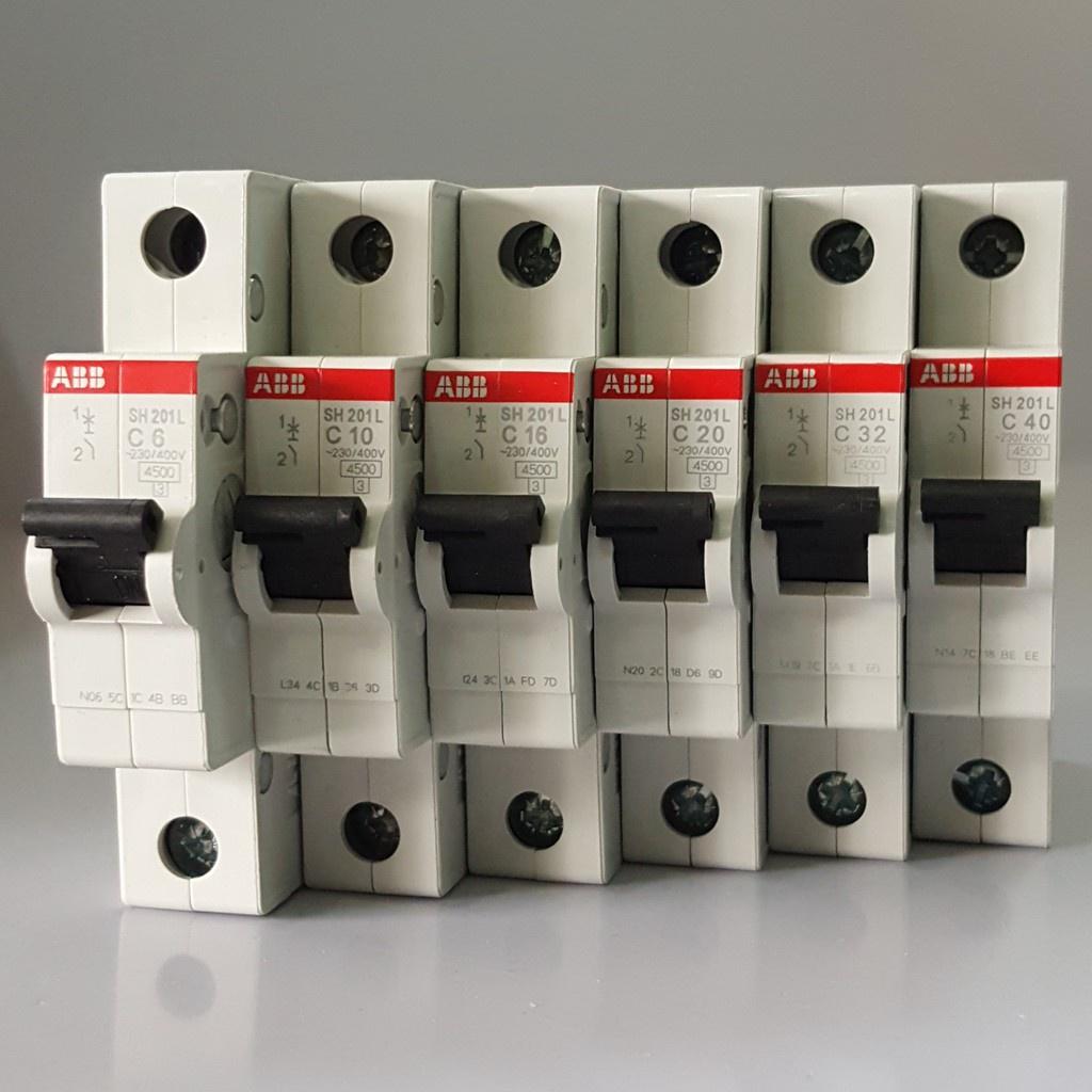 ABB MCB 4.5KA  1p 2p 3p 6A 10A 16A 20A 32A 40A 60Aminiture circuit breaker ABB-SH201L