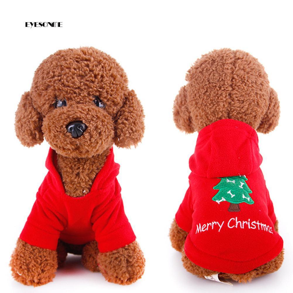 03dac6d023be ♕Cute Puppy Pet Christmas Tree Design Hooded Sweatshirt Costume Xmas Dog  Apparel   Shopee Malaysia