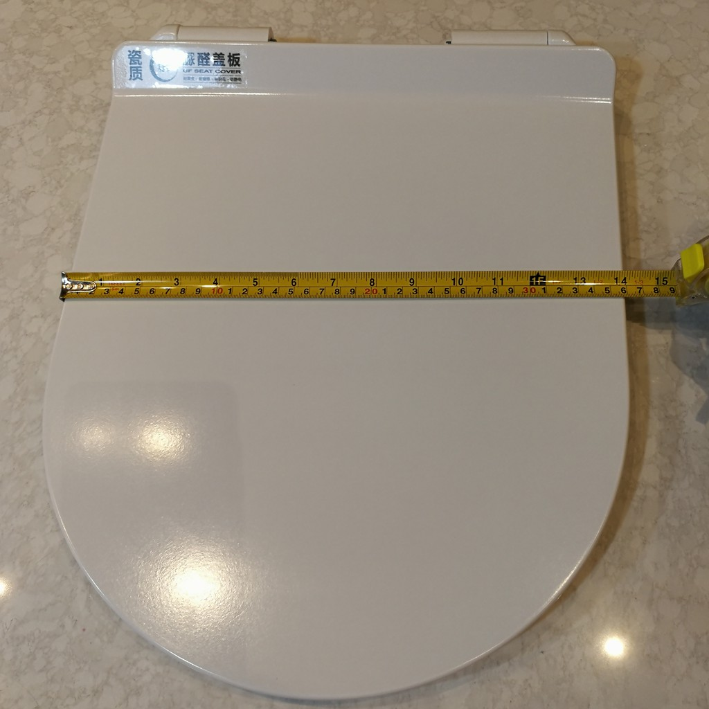 UF Heavy Duty Toilet Seat Cover Soft Close Ultra Slim & Flat Seat Cover D / V Shape (Big Wall Hardware)