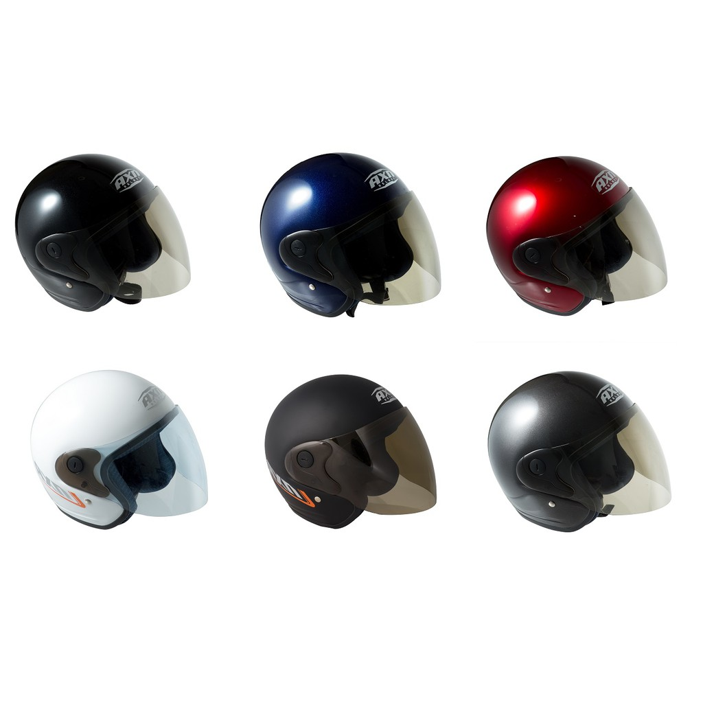 Helmet AXN Motorcycle Open Face with Tinted Visor (SIRIM) Size 60 L