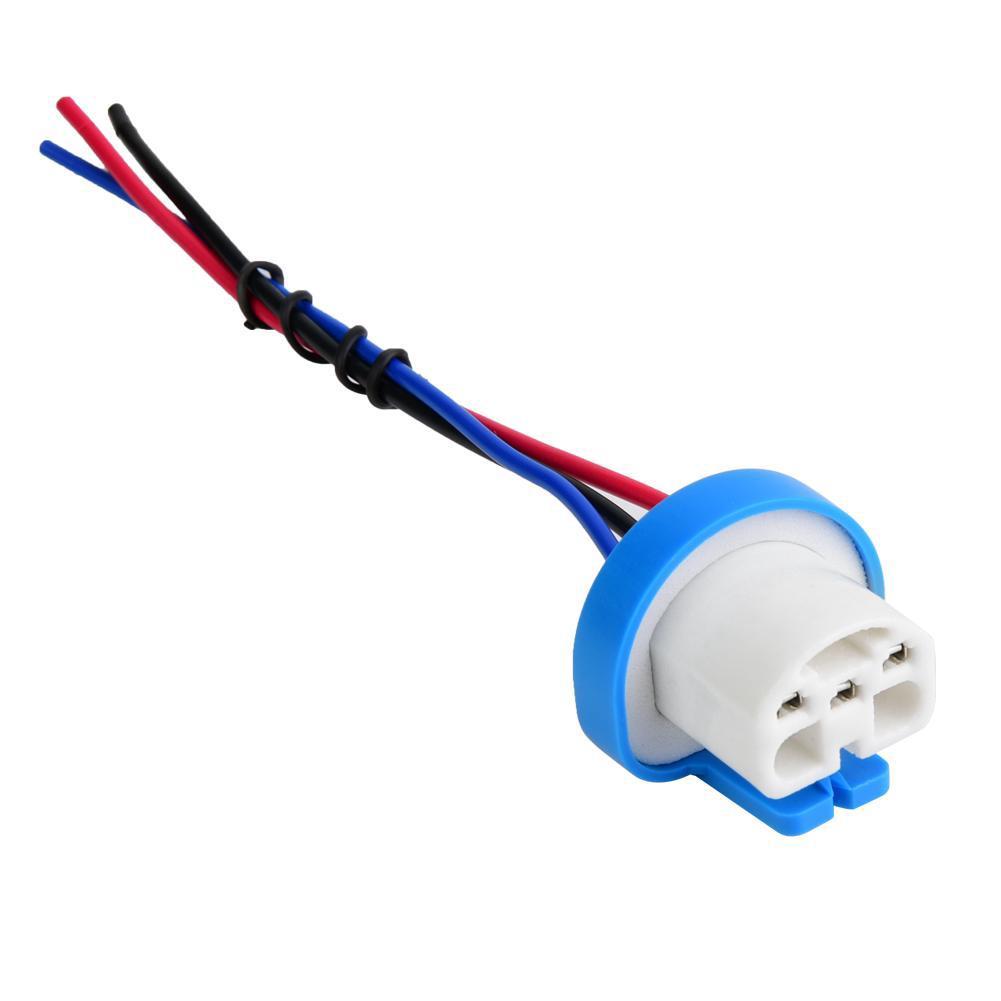 About 9007 Ceramic Headlight Wire Wiring Harness Socket Heavy Duty on