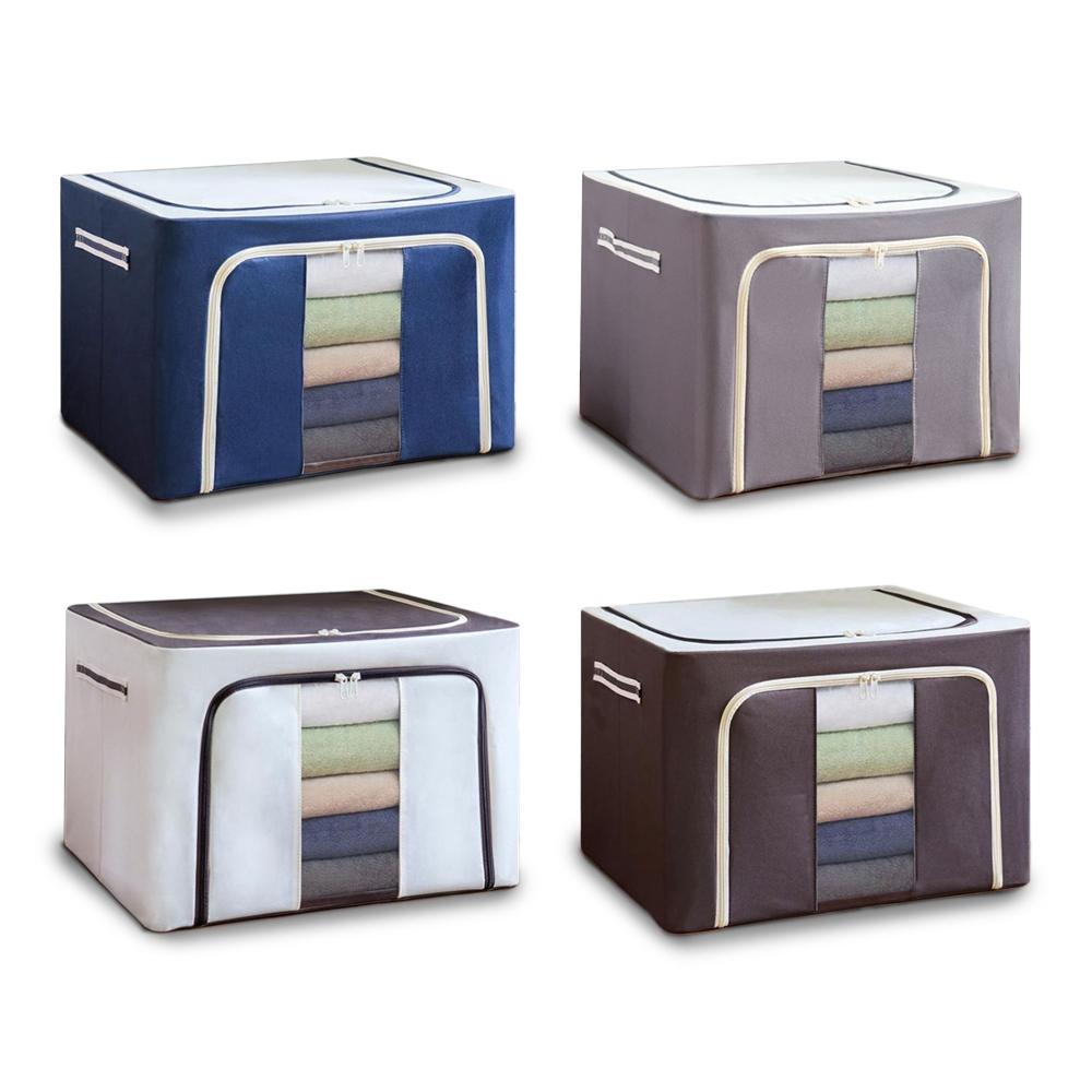 72L Large Capacity Multifunctional Foldable Storage Box with...