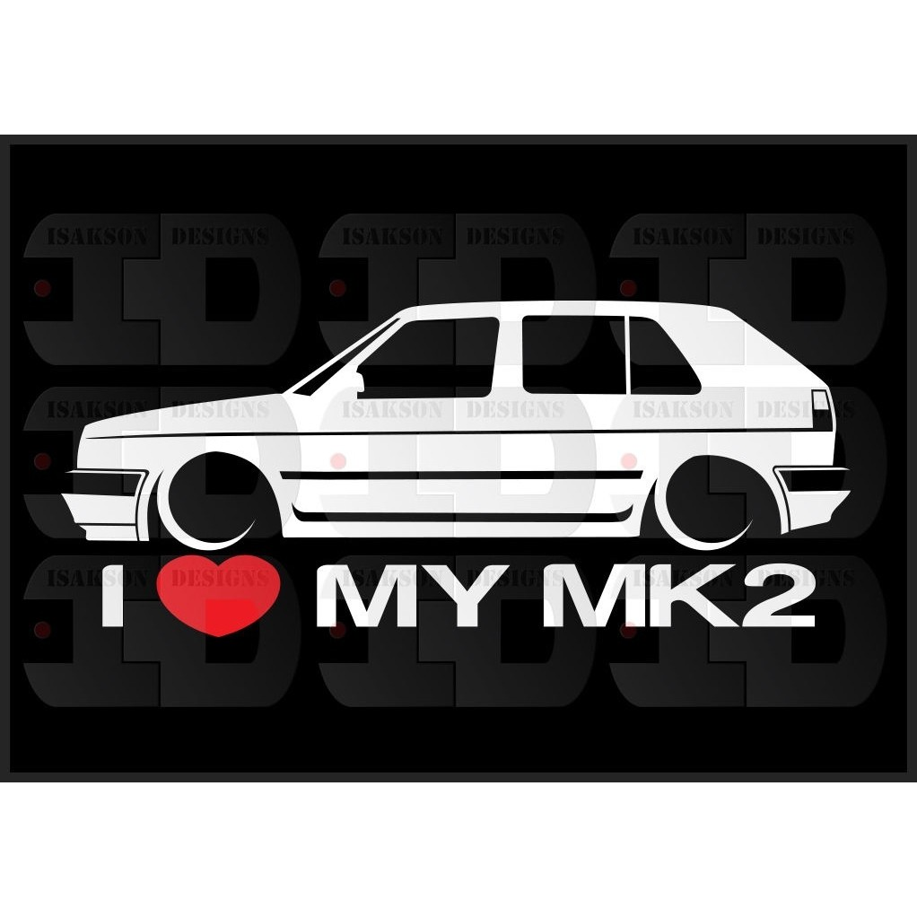 b8b41339e176e Download Now. ProductImage. 1Pair/2Pcs I Heart My MK2 Sticker Love ...