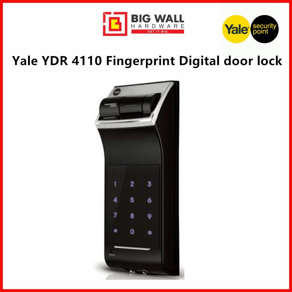 Yale YDR 4110 Fingerprint Digital Door Lock (Free Luggage Padlock)