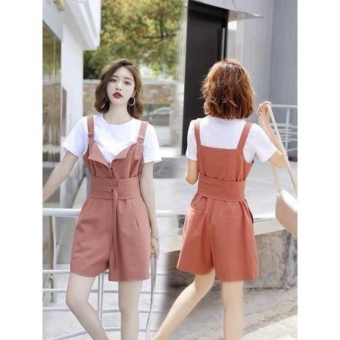 [S~XL]Korean high waist jumpsuit 韩版高腰显瘦背带裤