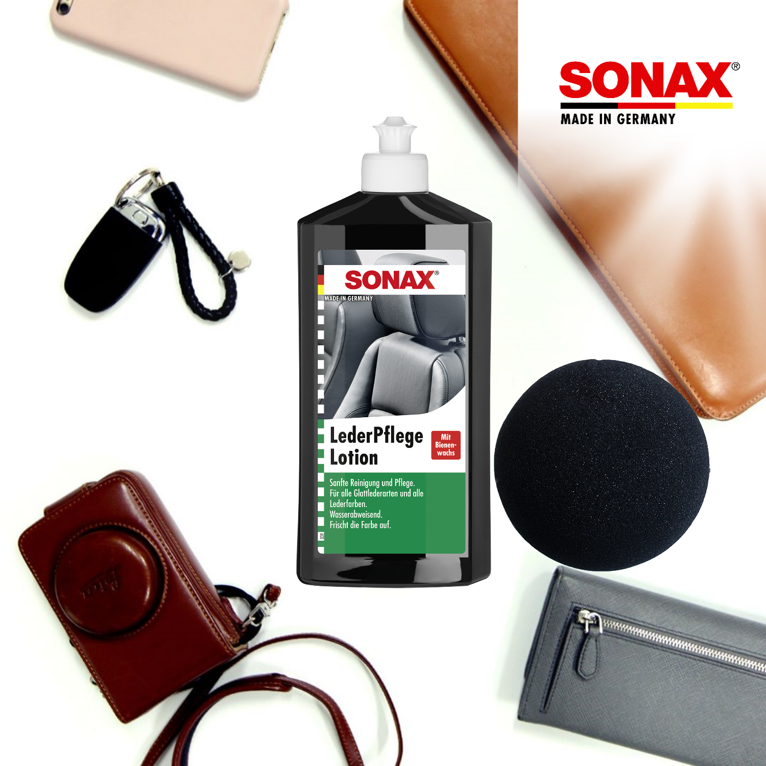 [Prevent Cracking] SONAX Leather Care Lotion (250ml)
