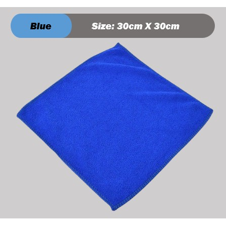 [ Ready Stock ] Thin Soft Absorbent Wash Cloth Car Auto Care Microfiber Cleaning Towels (Blue)