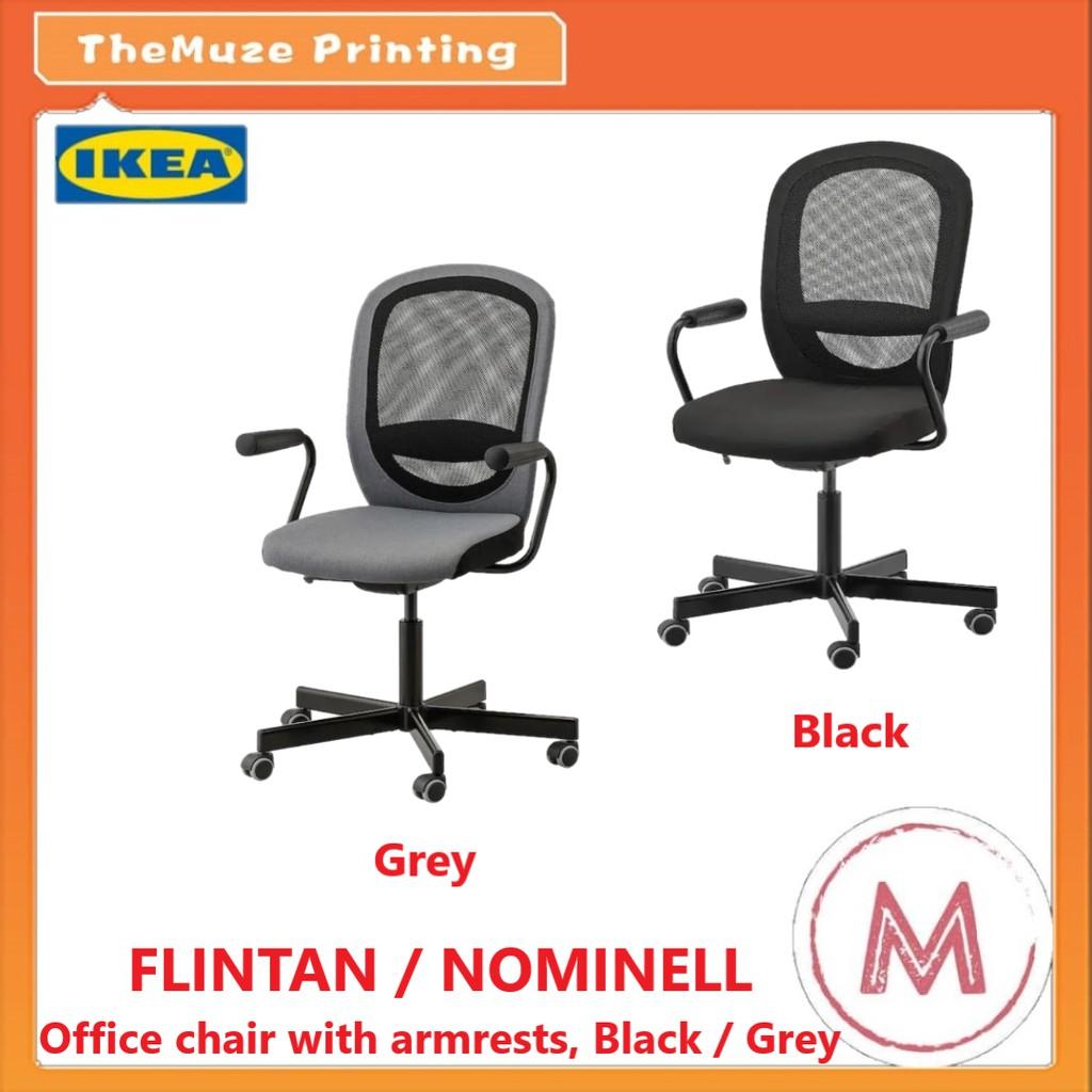 ArmrestsBlack Office Flintan With Ikea Chair Nominell CxrdoWBe