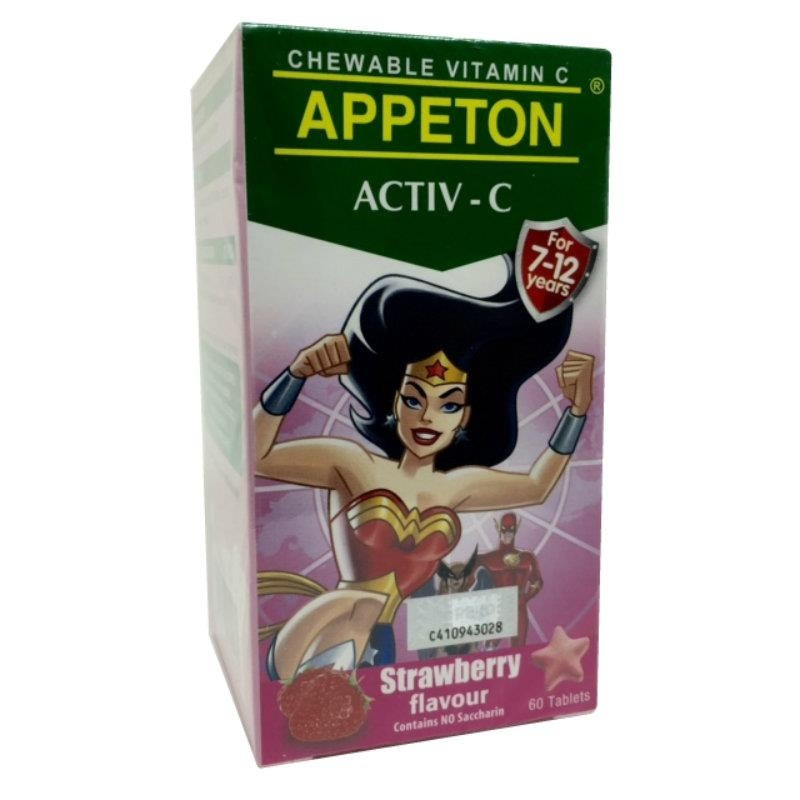 Appeton Activ-C Strawberry 60S
