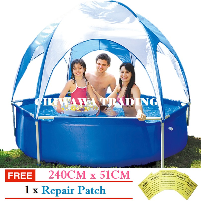 PROMOTION JL017276N Inflatable Ring Swimming Pool Safe PVC Bath Basin KOLAM KANAK