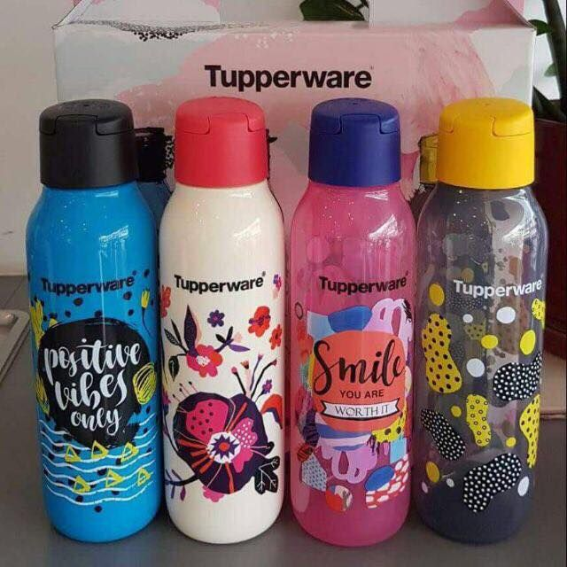 NEW Tupperware Cool N' Chic ECO Bottle Limited Edition (4) (Single item) 750ML