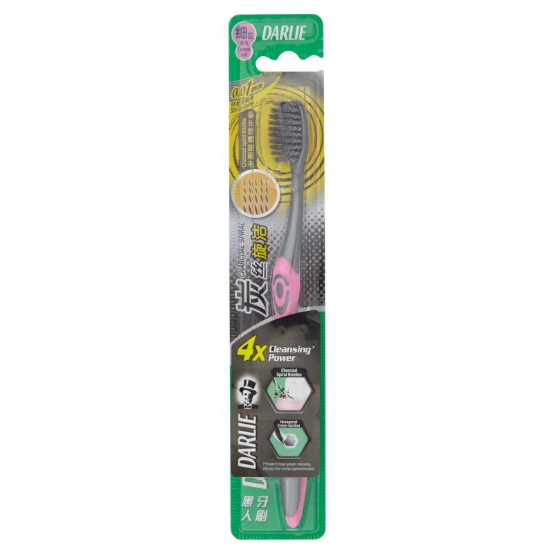 Darlie Charcoal Spiral Tapered Soft Toothbrush