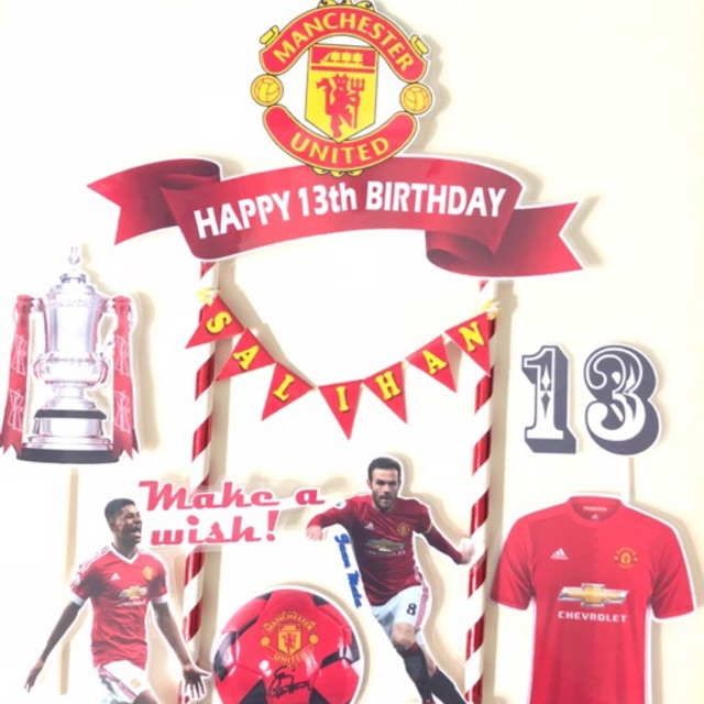 manchester united cake topper set of 7 shopee malaysia manchester united cake topper set of 7