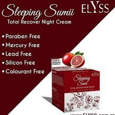 ELYSS SLEEPING SUMI TOTAL RECOVER NIGHT CREAM 10GM 100% ORIGINAL HQ+FREEGIFT