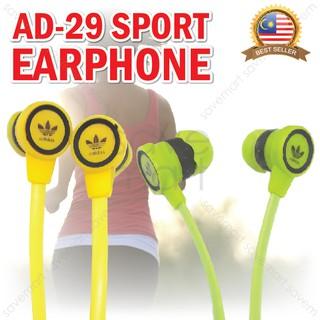 38c7ce20d32 Earphone Adidas Sennheiser AD-29 Music Rubber Earbud No Call 3.5mm   Shopee  Malaysia