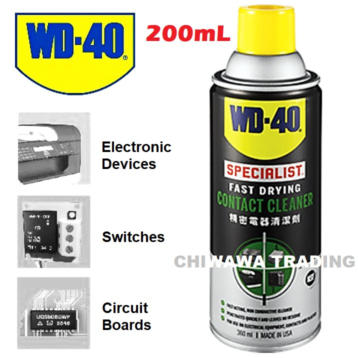 WD 40 Specialist Fast Acting Drying Contact Cleaner No Residue Spray