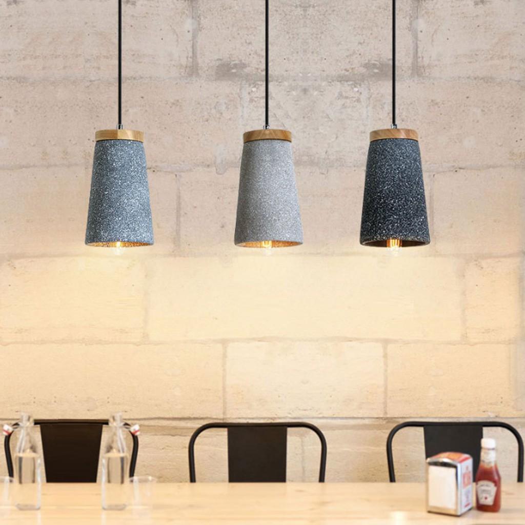 In Stock Modern Concrete Pendant Light Kitchen Dining Room Bar Hanging Lights Pendant Lamp Shopee Malaysia