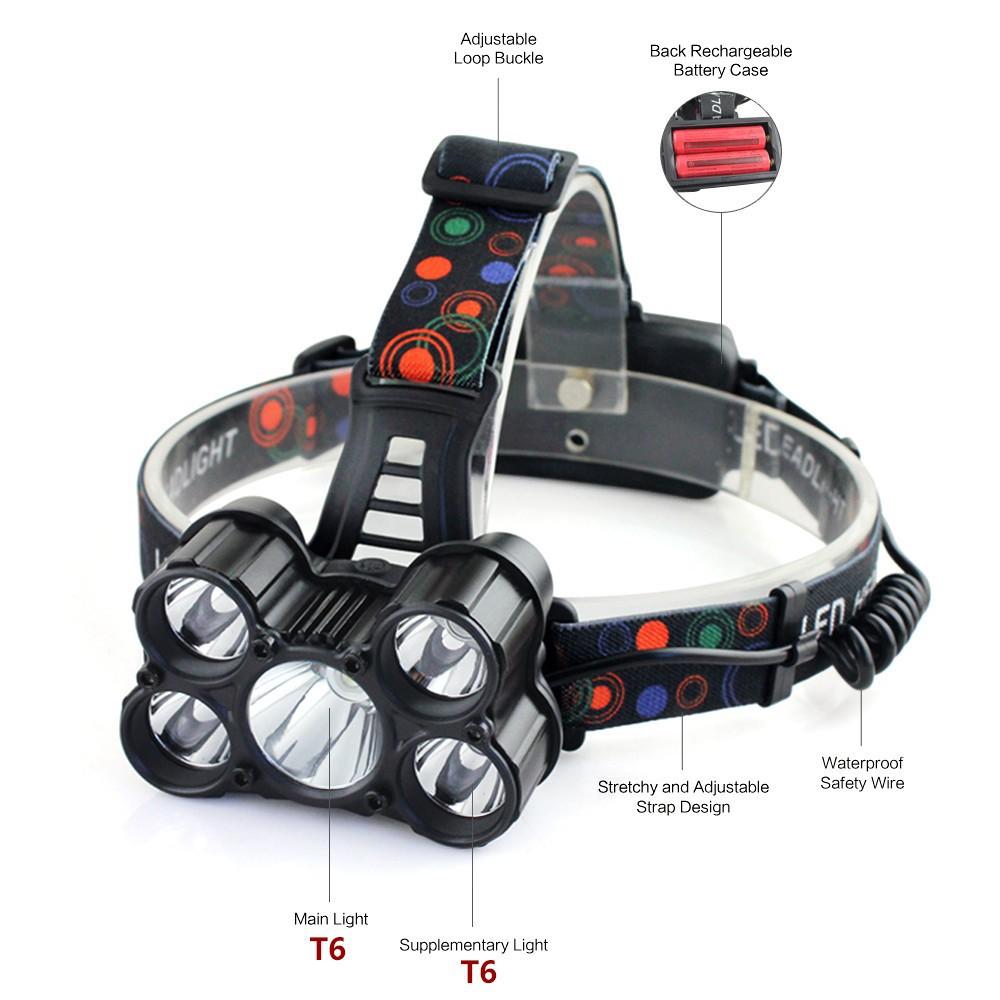 30000LM XM-L T6 LED Super POWER 18650 Headlamp Headlight Head Torch White Light