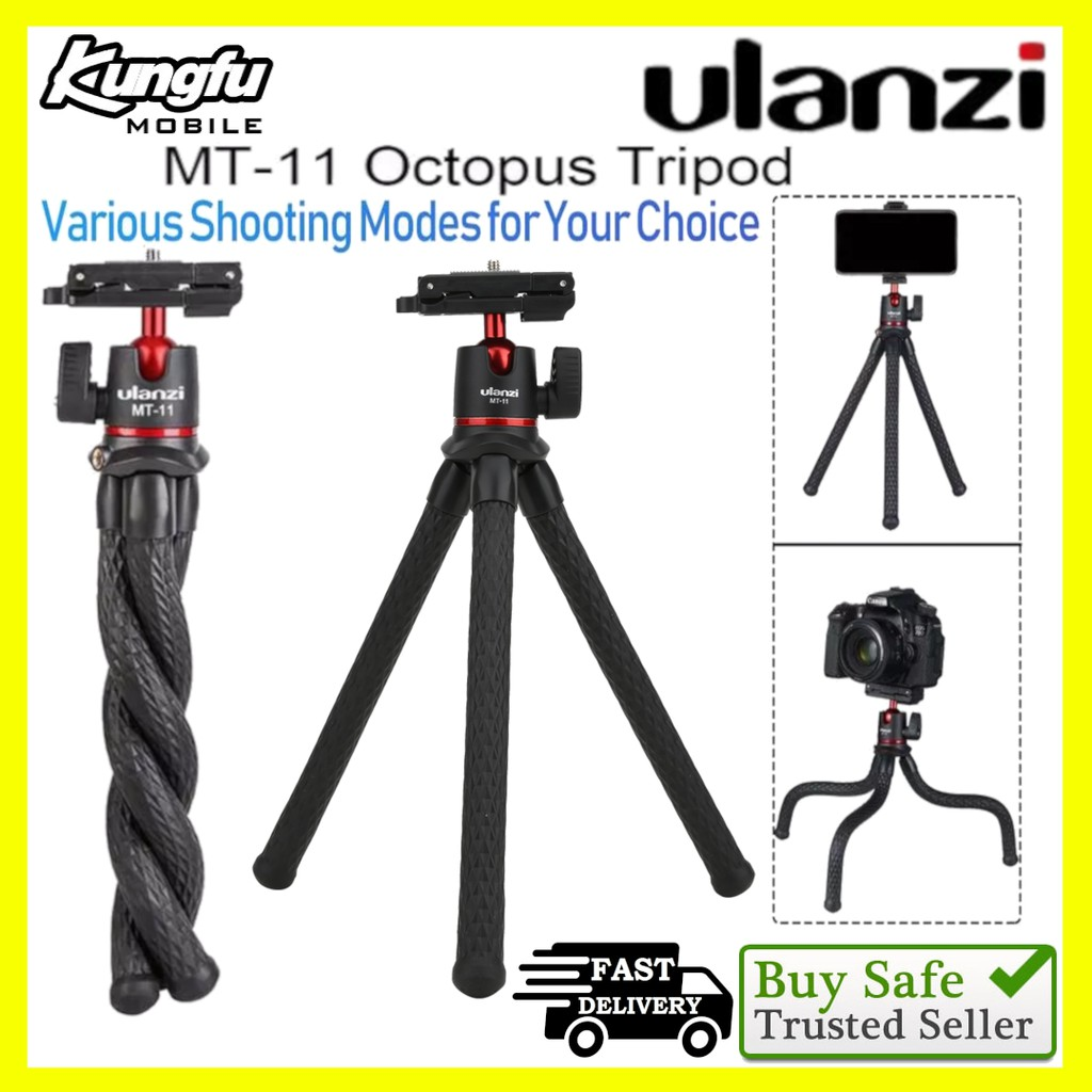 Ulanzi MT-11 Multi-functional Flexible Octopus Tripod for Camera Smartphone with Phone Clip
