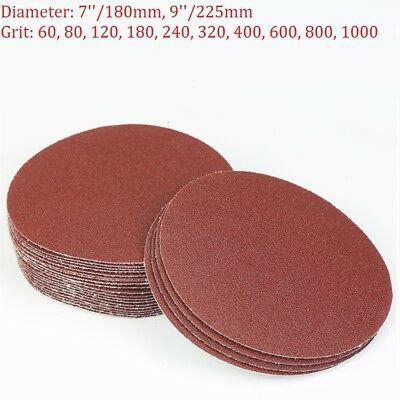 50* 50mm Sanding Disc Hook And Loop Abrasive Sand Paper 60 100 120 180 240 Grit