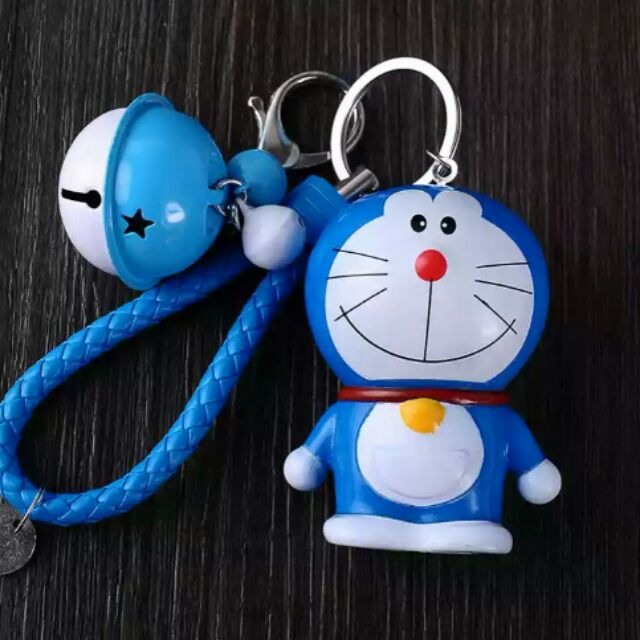 Doraemon Cute Keychain Blue Bell Key Chain