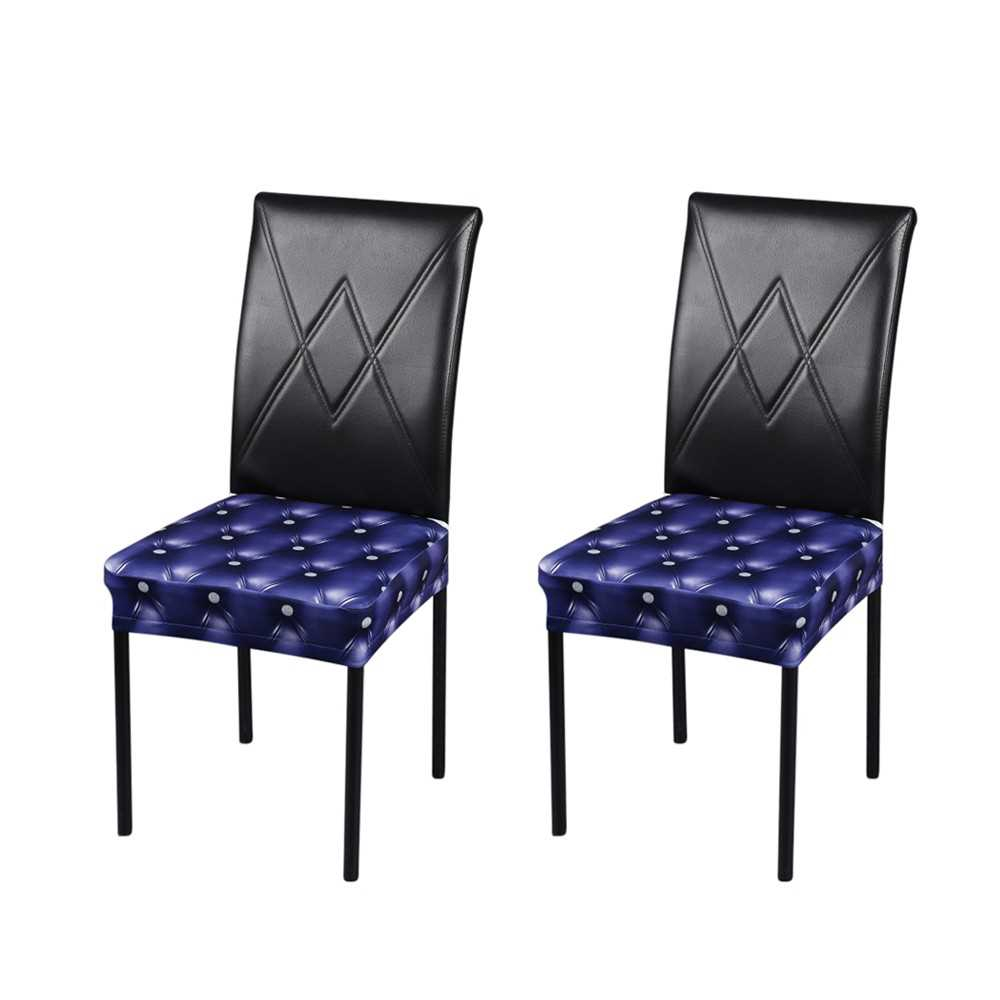 2pcs 3d Printing Spandex Stretchable Dining Chair Seat Covers Ceremony Chair Shopee Malaysia