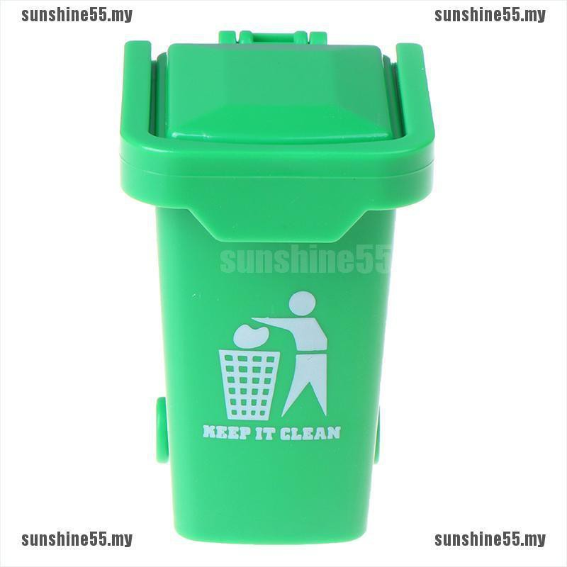 1//12 Miniature Education Dollhouse Garbage Trash Can Decor Gift Toys SALE HOT