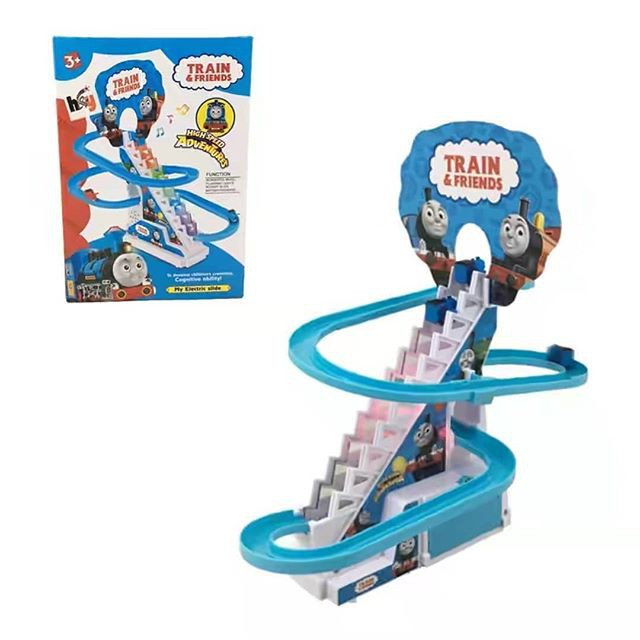 Light Music Mickey Mouse Thomas & Friend Rail Track Electric Staircase Slide set9