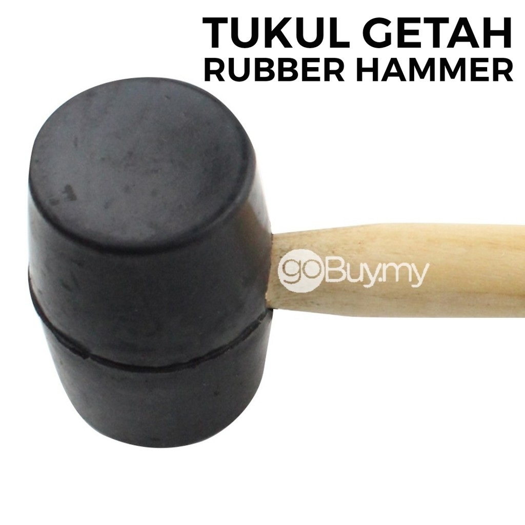 Rubber Hammer With Wooden Handle No Elastic Rubber Tukul Getah