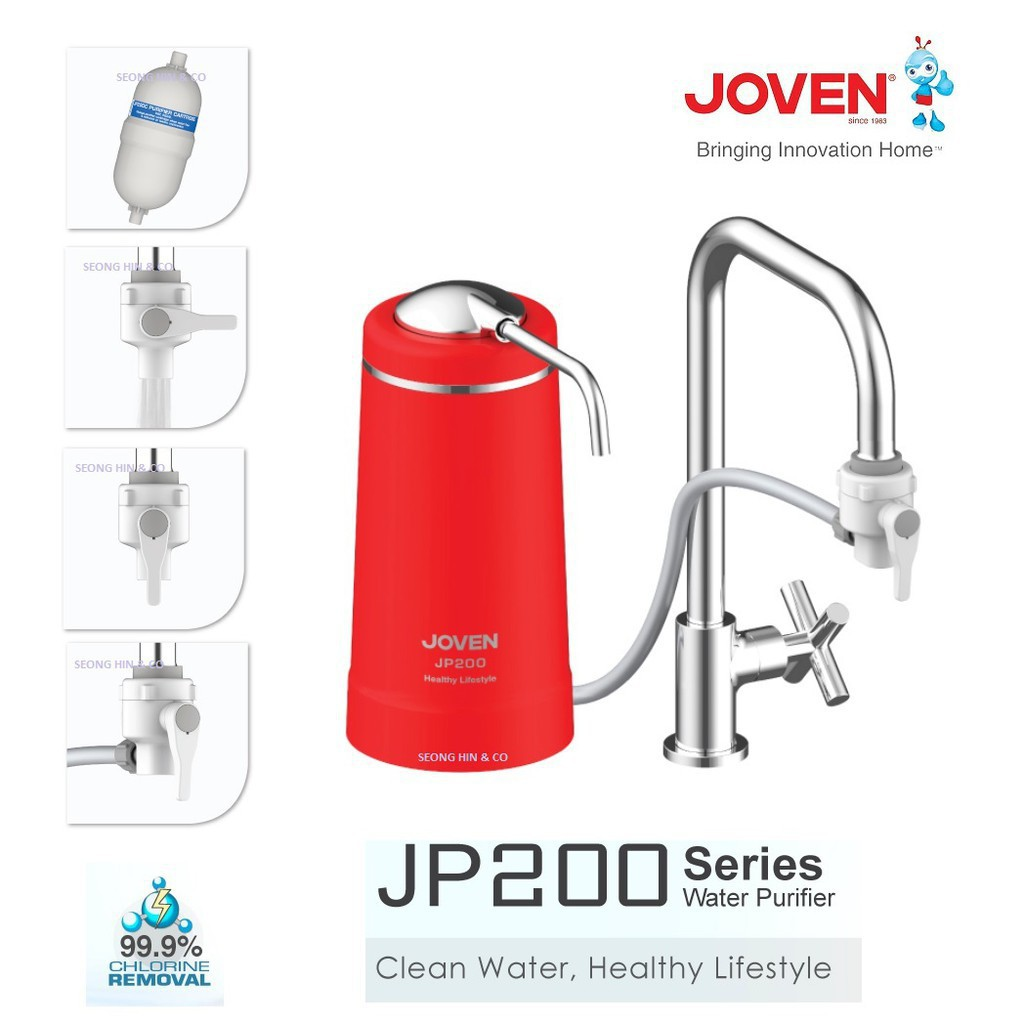 [FREE SHIPPING] Joven JP200 Water Purifier (WHITE / RED) Water Filter (With  Bubble Wrapping)