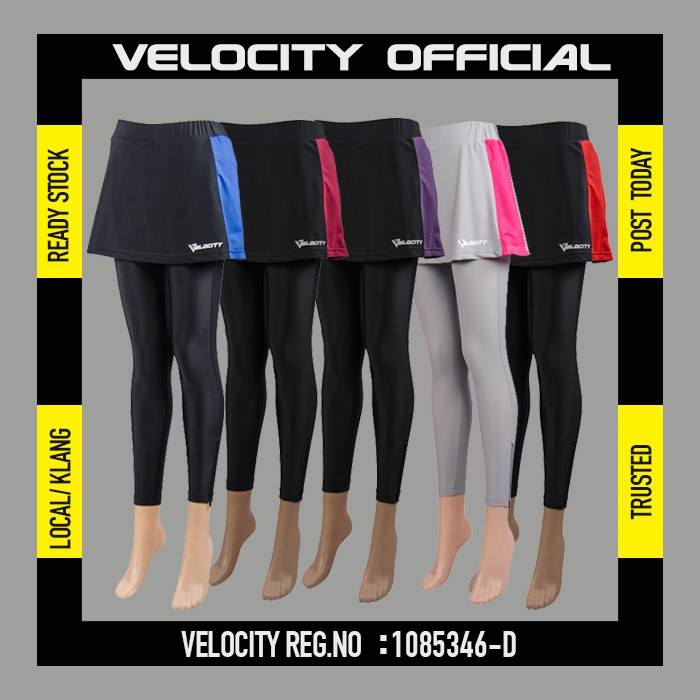 [READY STOCK]Velocity Women Sport Pants Skirt Quick Drying Breathable