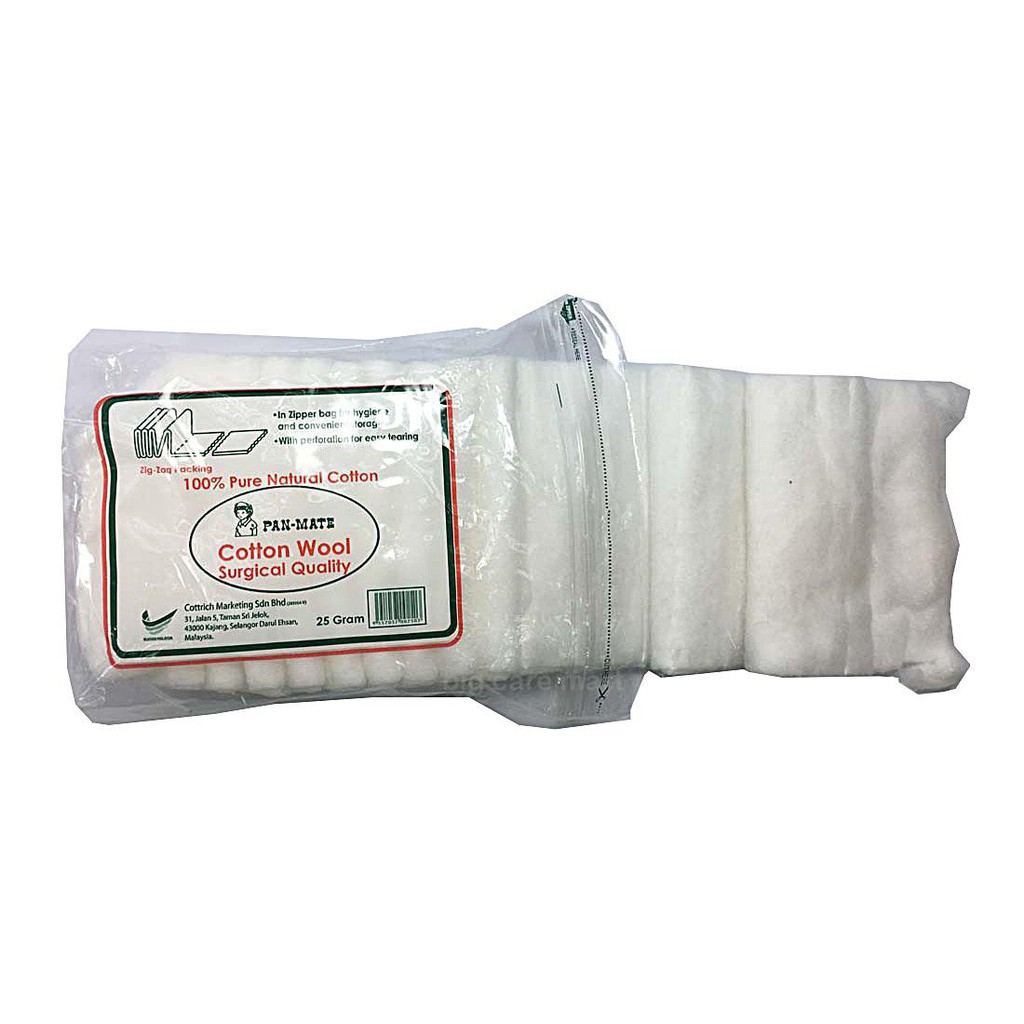 Pan-Mate Cotton Wool 25G