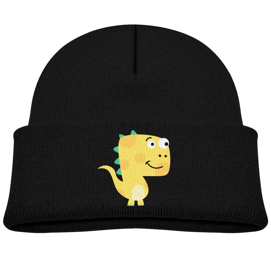 db41a6e52 Boys Girls Hat Yellow Dinosaur Beanie Hats Skull Cap Knit Kids