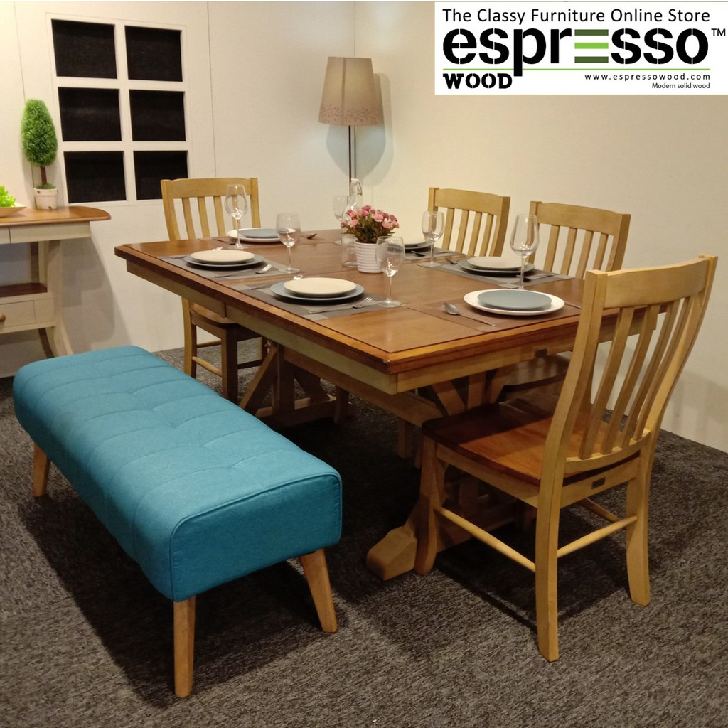 Dining Table Set Extendable Dining Table With Bench Shopee Malaysia