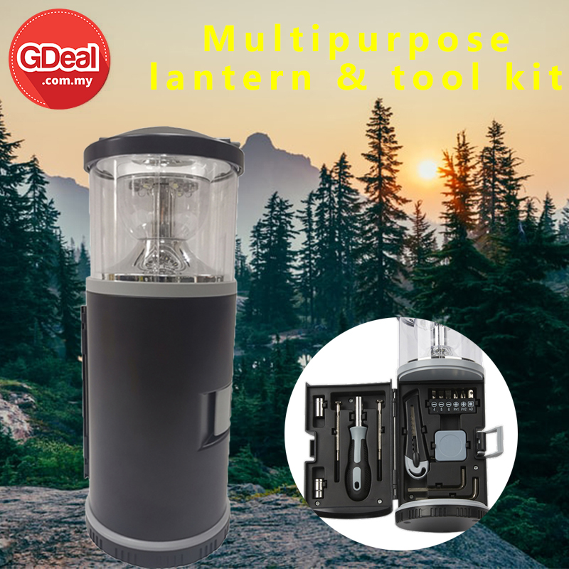 GDeal Portable Outdoor Lantern Household Multifunctional Camping LED Night Lamp With Tool Set