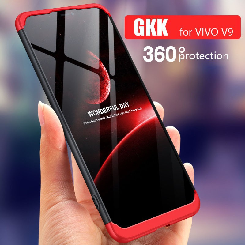 factory price 5b380 f5717 Vivo V9 Case 360 Degree Protective Case Back Cover Hard PC