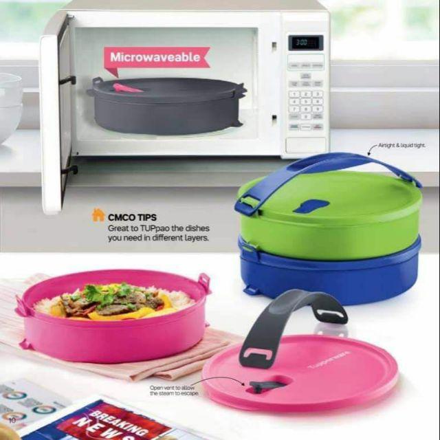 microwaveable round click to go bekas kedap udara airtight bpa free food kitchen storage liquid tight mangkuk tingkat