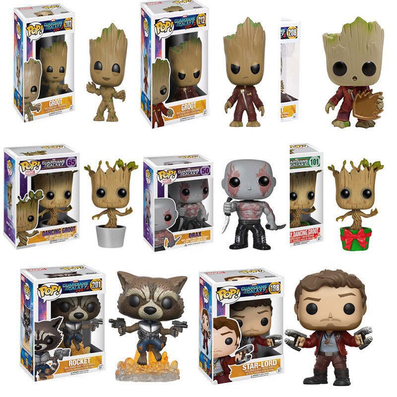 Funko Pop films Guardians of the Galaxy Vol 2-Star Lord Figurine en vinyle Rando