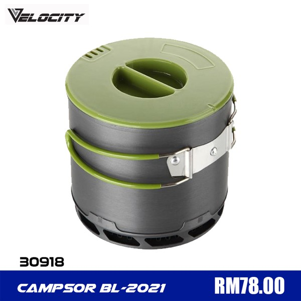 Velocity Portable Cooking Pot 1 L for Camping Outdoor