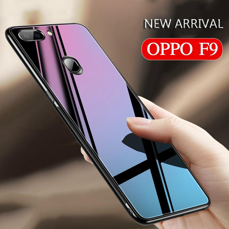 promo code 5a87c b416e OPPO F9 Luxury Tempered Glass Case cover Soft Frame protection