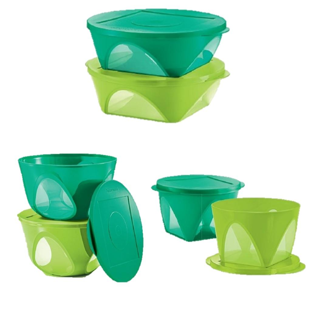 Tupperware Emerald Dining Bowl Set 6 2 5l 4 3l 1 5l Green Shopee Malaysia