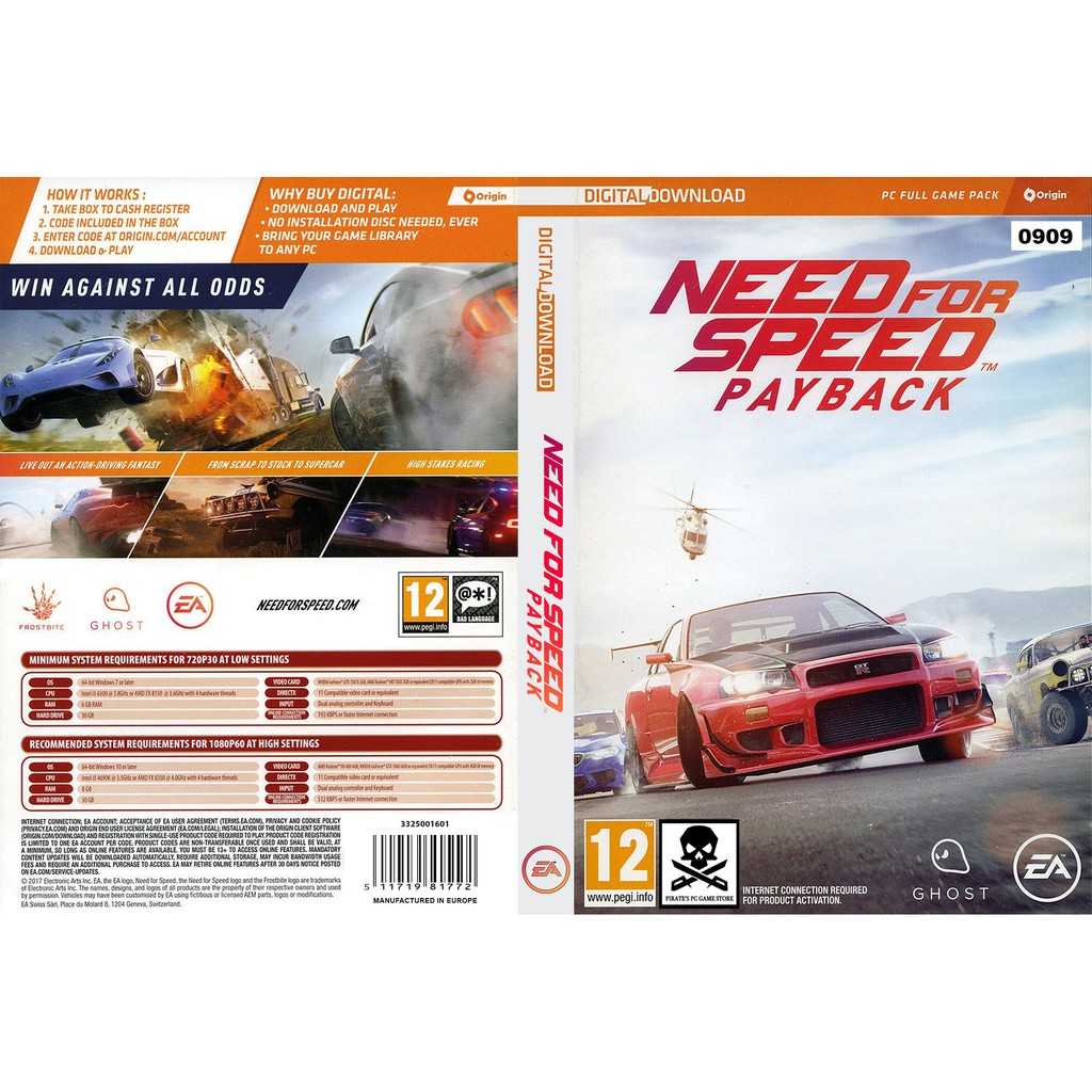 Pc Need For Speed Payback Deluxe Edition Shopee Malaysia