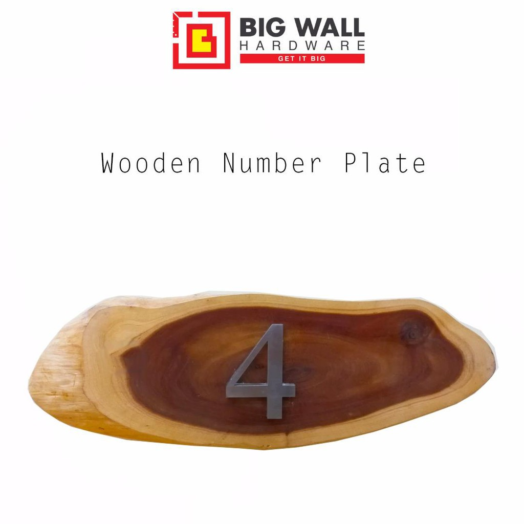 Wooden Number Plate