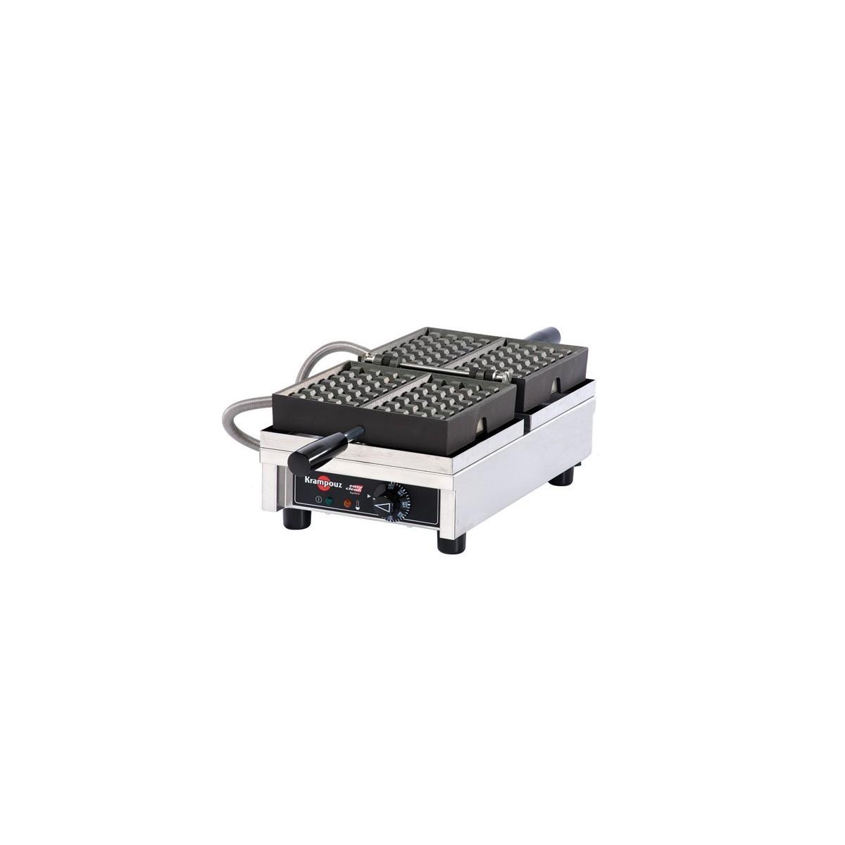 Krampouz - Electric Waffle Makers, Liege, 4x6, 180 deg