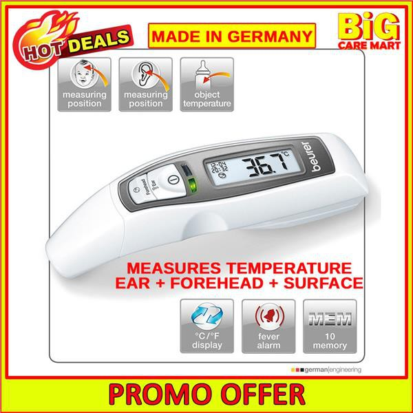 Beurer 6in1 Function Ear & Forehead Thermometer FT65 [5 Year Warranty]