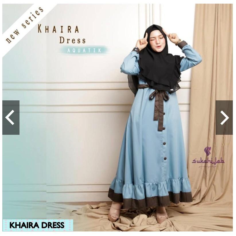 Pgo Khaira Shari Dress Plus Khimar Cheapest Gamis Latest Modern Teenager 2020 Teaching Clothing Shopee Malaysia